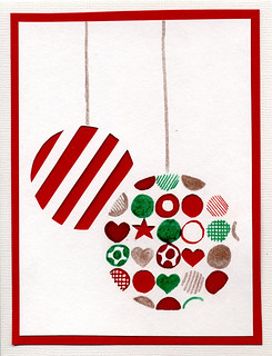 Xmas card baubles