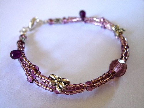 anorexia support bracelet braided dragonfly purple