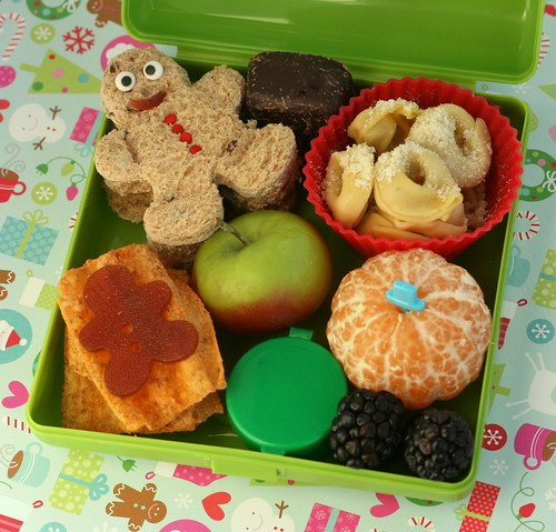 Gingerbread sandwiches bento