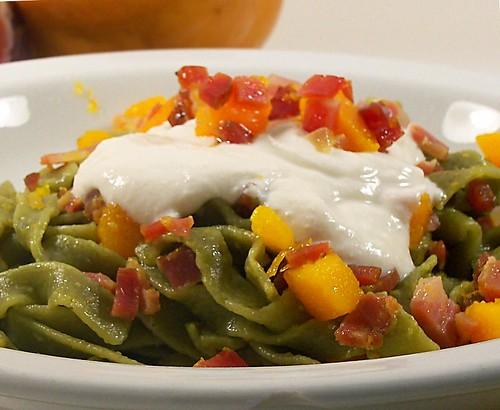 lasagne al broccolo fiolaro con speck, zucca e ricotta_