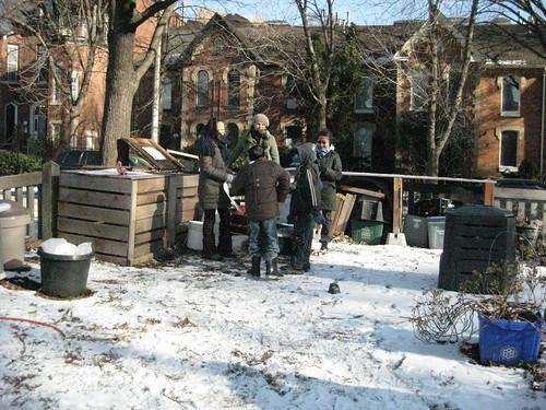 Winter composting at school food garden