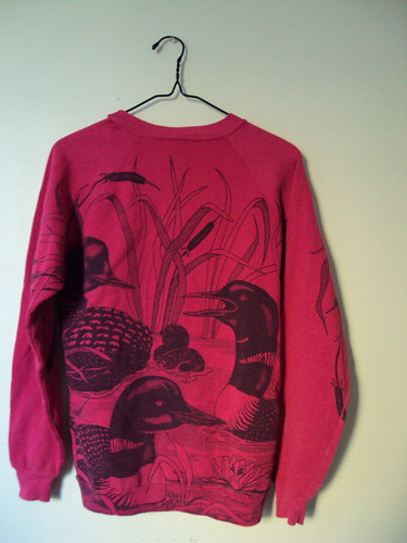 All Over Graphic Print Loon Sweatshirt (back)