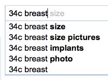 34c breast size