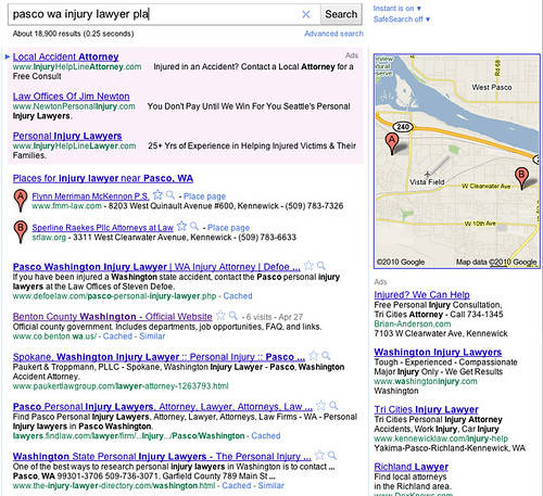 Google Places SERP Displays #3