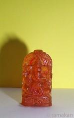 Ganesha 199 (ramakan) Tags: orange glass ganesha lord 365 mould pillayar vinayagar ganapathi