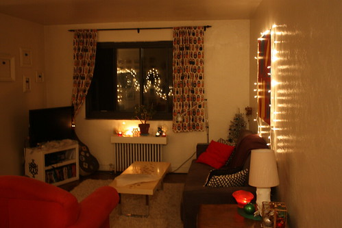 Holiday-Decorated Living Room