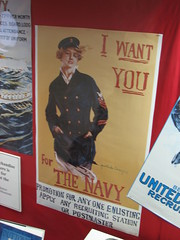 """I want you for the Navy""  U.S. Navy recruitment poster (FranMoff) Tags: woman poster boat ship navy olympia sailor cruiser uss c6 recruitment ca15 protectedcruiser cl15 ix40"