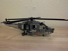 Dragonfly 2 Helicopter (Babalas Shipyards) Tags: lego aircraft military navy helicopter moc