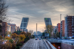 Gate of Europe, Madrid (mathewbest) Tags: madrid canon cityscape hdr scky photomatix 5d2