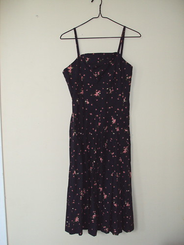 Vintage Strappy Floral Dress