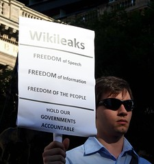 Hold our Governments accountable - Support Wikileaks - Free Assange (John Englart (Takver)) Tags: usa protest australia melbourne victoria censorship freespeech wikileaks assange