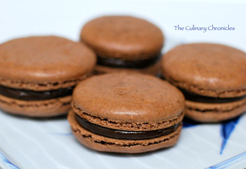 Chocolate Macaron with Chocolate Espresso Ganache