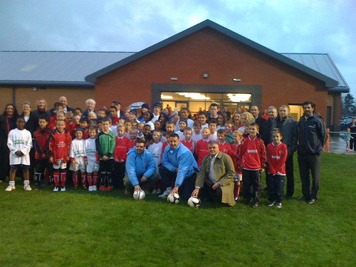 Stars come out for football scheme launches
