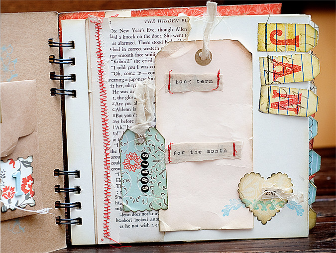 Turning 40 mini album monthly page