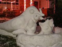 Mama bird 005 (ivantheterrible64) Tags: winter sculpture snow bird art ice feeding capitalweather