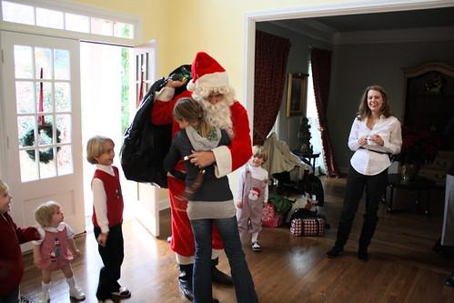 Laura Hugs Santa