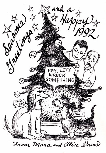 Marc Davis Christmas Card - 1991