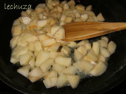 Samosas de pera-dorar peras