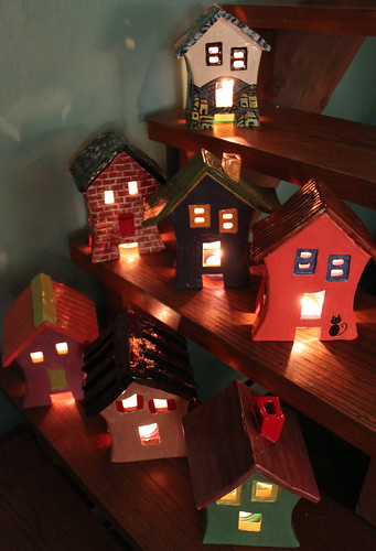 luminary houses for Christmas presents