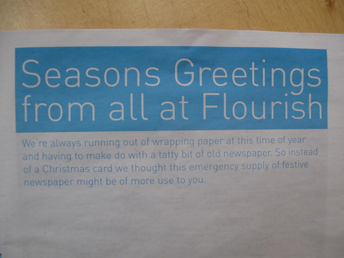 Flourish Christmas Newspaper