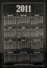 Acrylic Laser Cut 2011 Calendar