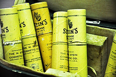Steins Grease Paint (darkfluidity) Tags: color clown ringling greasepaint ringlingmuseum clownmakeup steinsgreasepaint