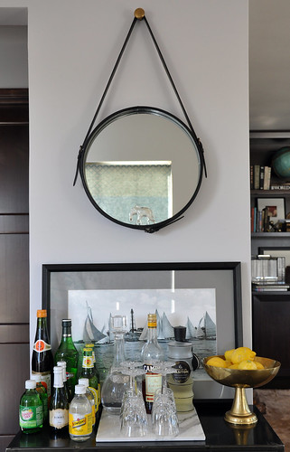 home bar vignette