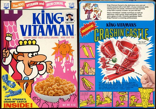 1972 King Vitaman Cereal Box w Crashin' Castle