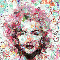 Queen of Snowflakes (Village9991) Tags: people music newyork celebrity film snowflakes mosaic madonna queen madge