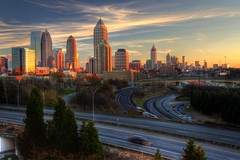 The Atlanta Expanse (AJ Brustein) Tags: atlanta sunset sky usa skyline clouds america canon ga georgia aj evening day cityscape clear 75 85 hdr scad connector savannahcollegeofartanddesign brustein 50d