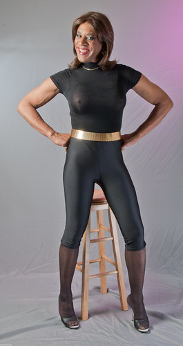 Fit mature in spandex