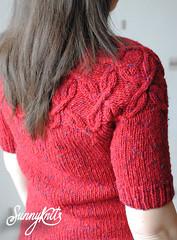 Aran yoke sweater