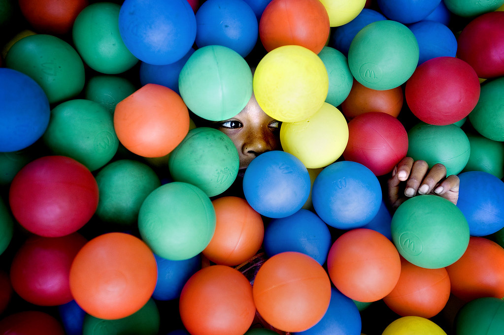 Hiding in Ball Pit
