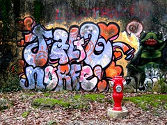 poteau d'incendie normalisé (b.four) Tags: forest graffiti tag forêt dda alpesmaritimes coth cherryontop supershot tourrettessurloup impressedbeauty citrit rubyphotographer poteauincendie mygearandme pistedfcidumounard