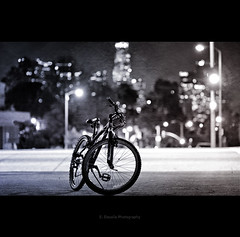 Night Rider (Emmanuel_D.Photography) Tags: california blackandwhite bw bike bicycle night canon lights la losangeles cool downtown biker echopark rider emmanuel astig 85mmf18 50d dasalla