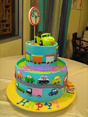 Transportation cake (Jcakehomemade) Tags: 1stbirthdaycake carcake partycake noveltycake 3dcarcake childrenbirthdaycake transportationcake jcakehomemade cakesforboy gerardsumjialesbirthdaycake