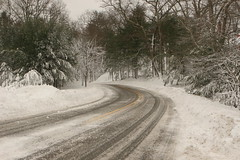up around the snowy bend (planetlight) Tags: road trees snow storm snowstorm newengland emergency snowroad planetlight snowbbound