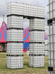 """CubeHenge"" - Glastonbury Festival 2010 (bobaliciouslondon) Tags: lighting art water festival stage glastonbury glastonburyfestival 2009 containers perfomance pilton worthyfarm waterstorage glastonbury2009 cubehenge"