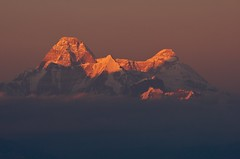 Nanda Devi Sunset (Partha) Tags: christmas morning sunset india collage sunrise canon rebel dawn day terrace dusk wildlife peak resort himalaya 23rd dhar highest trishul almora nandadevi partha binsar jhandi kumaon uttarakhand nandakot xti chowdhury nandadevieast sancuatry kmvn pindariglacier nandakhat mrigthuni dangthal maikatoli pawalidwar traillspass chhanguch lapsadhura parthapratimchowdhury parthachowdhuryphotography