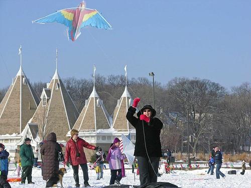 Winter Kite Festival 2008 elder kiter