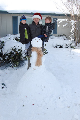 Our First Family Snowman
