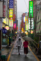Jagalchi Alley (Gijj) Tags: travel portrait people food streets colors alley holidays asia neon events korea busan seafood umbrellas hangul alleys foreignlanguages   hangeul buddhasbirthday  jagalchi      canoneos7d   sigma1770mmf284dcmacrooshsm