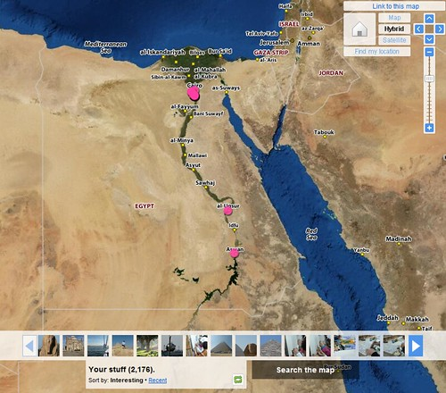 Flickr Egypt Map