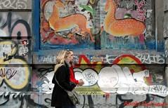 NYC Graffiti Romance (MY PINK SOAPBOX) Tags: nyc streetart ny pasteup graffiti nikon couple grafiti pareja manhattan candid graf lowereastside banksy romance urbanart metropolis gothamist spraypaint graff gotham anahi callejeando grafity newyorkers thebowery robada grafito arteurbano roubada mbw paintedwalls streetartnewyork spraypaintart urbancandid streetcandid urbanwalls streetcapture urbanites nystreetart shinshin newyorkcandid womanwithcamera mrbrainwash nycstreetshot newyorkcitylife anahidecanio callesdeny exitthroughthegiftshop howtomakeit blondewithcamera anahidecaniostreetart