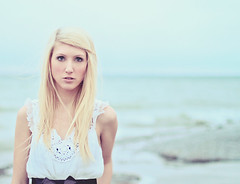 Shandi-lee XXV {tides} (Shandi-lee) Tags: blue winter portrait white lake selfportrait ontario canada cold green beach water girl standing cool movement aqua waves alone turquoise tide horizon longhair freezing blonde stare lakeontario blondehair emotive rosycheeks seafoam windinhair beachinwinter girlonbeach crochettop