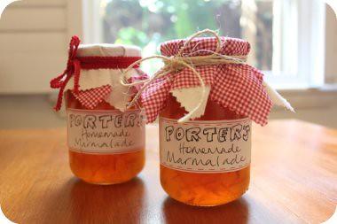 Porter's homemade marmalade