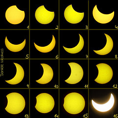 Partial solar eclipse of Jan 4, 2011 from Central Italy + sunspot