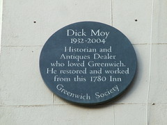 Photo of Dick Moy grey plaque