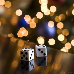 One Extra Dot (raisinsawdust - (aka: withaneyephotography)) Tags: light stilllife dice reflections lights nikon bokeh tennessee dots eleven 2010 d90 nikond90 oneextra