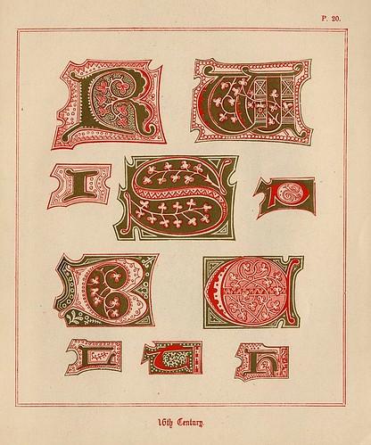 014- Medieval Alphabets and Initials 1886- F.G. Delamotte- Copyright 2006 illuminated-book.com& libros-iluminados.com